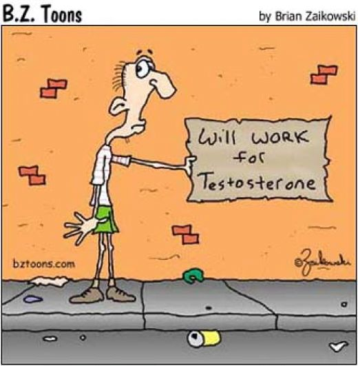 Low Testosterone Cartoon