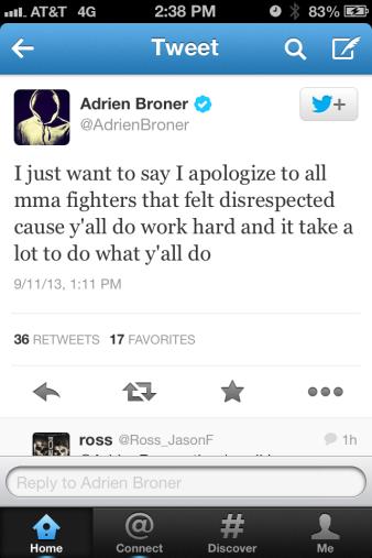 Broner tweet